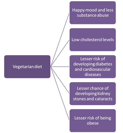 Figure 3. <b>Benefits of having a vegetarian diet</b>